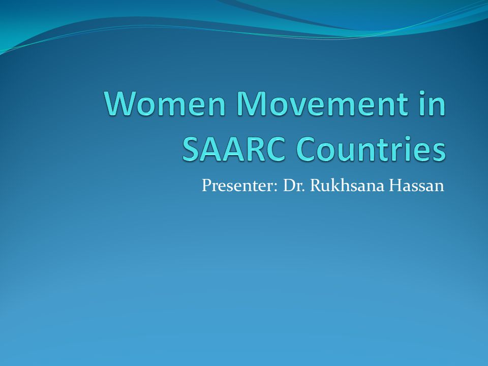 Presenter: Dr. Rukhsana Hassan
