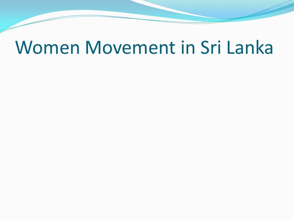 Women Movement in Sri Lanka