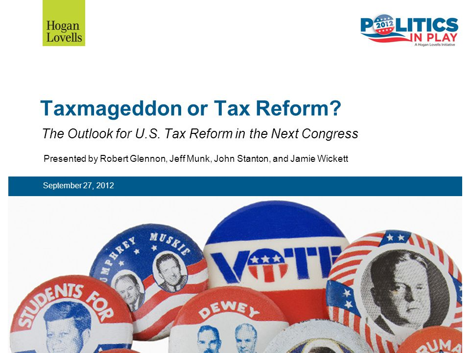 Taxmageddon or Tax Reform. The Outlook for U.S.