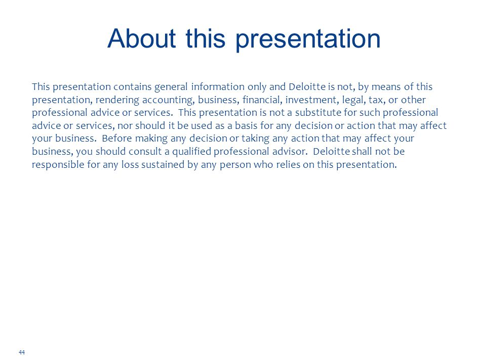 Copyright © 2014 Deloitte Development LLC.All rights reserved.