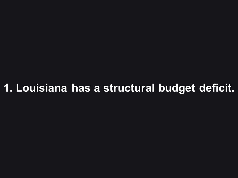 3 1. Louisiana has a structural budget deficit.