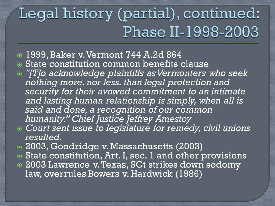  1999, Baker v.