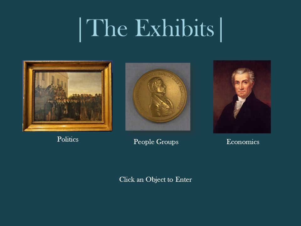 |The Exhibits| Politics EconomicsPeople Groups Click an Object to Enter