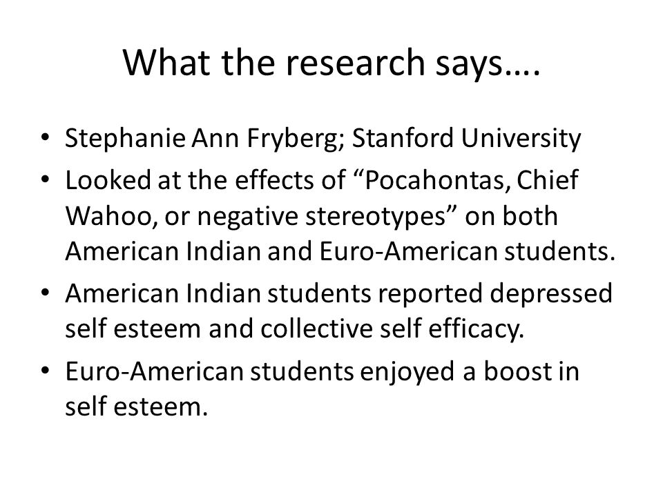 What the research says….