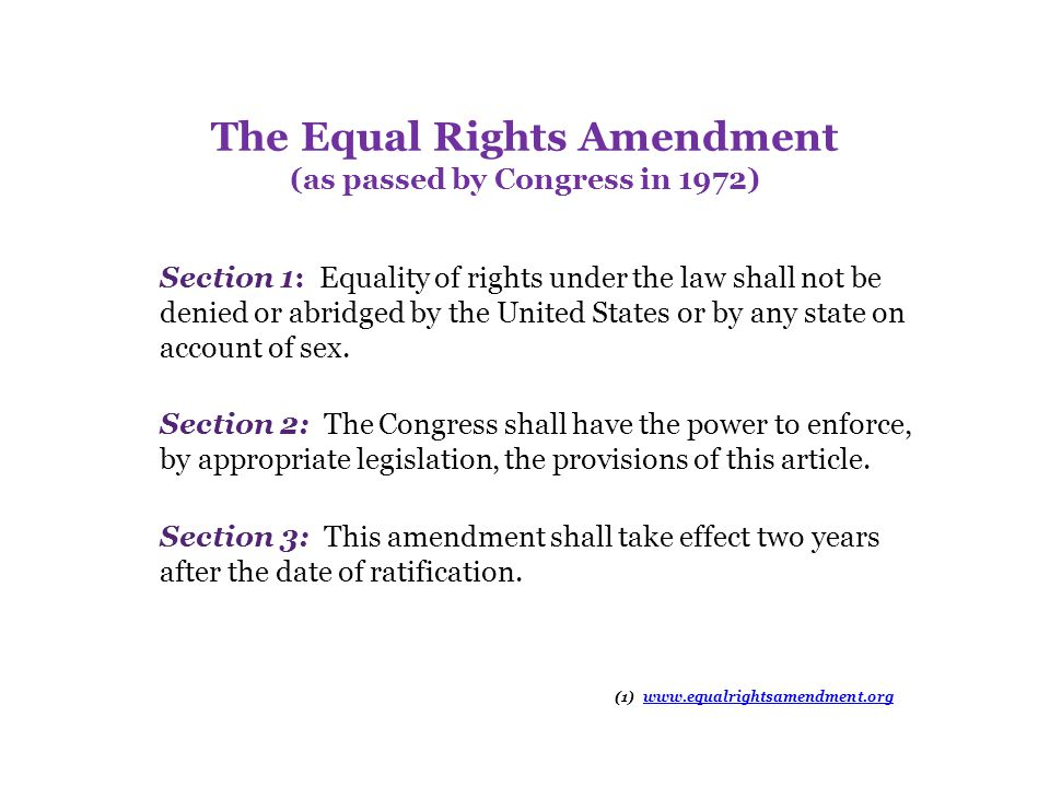 The ERA and Reproductive Rights Experience with state ERAs over more than 40 years has disproved claims that the ERA would require government to allow abortion on demand. Federal and state court decisions on reproductive rights have been based almost exclusively on the constitutional principles of the right of privacy and the due process clause of the 14th Amendment, not equal protection or equal rights analysis.