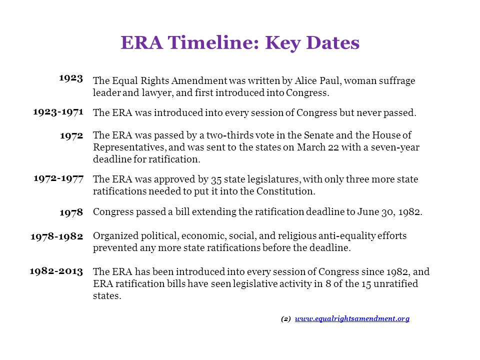 What the ERA Would Do Guarantee that the rights affirmed by the U.S.