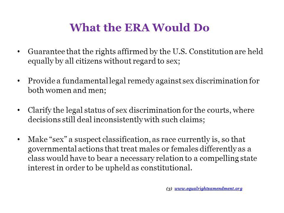 We Need the ERA Because...