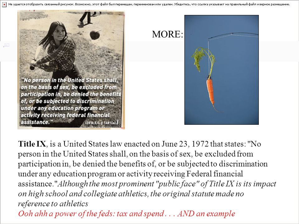 . [17] [17] Title IX, is a United States law enacted on June 23, 1972 that states: