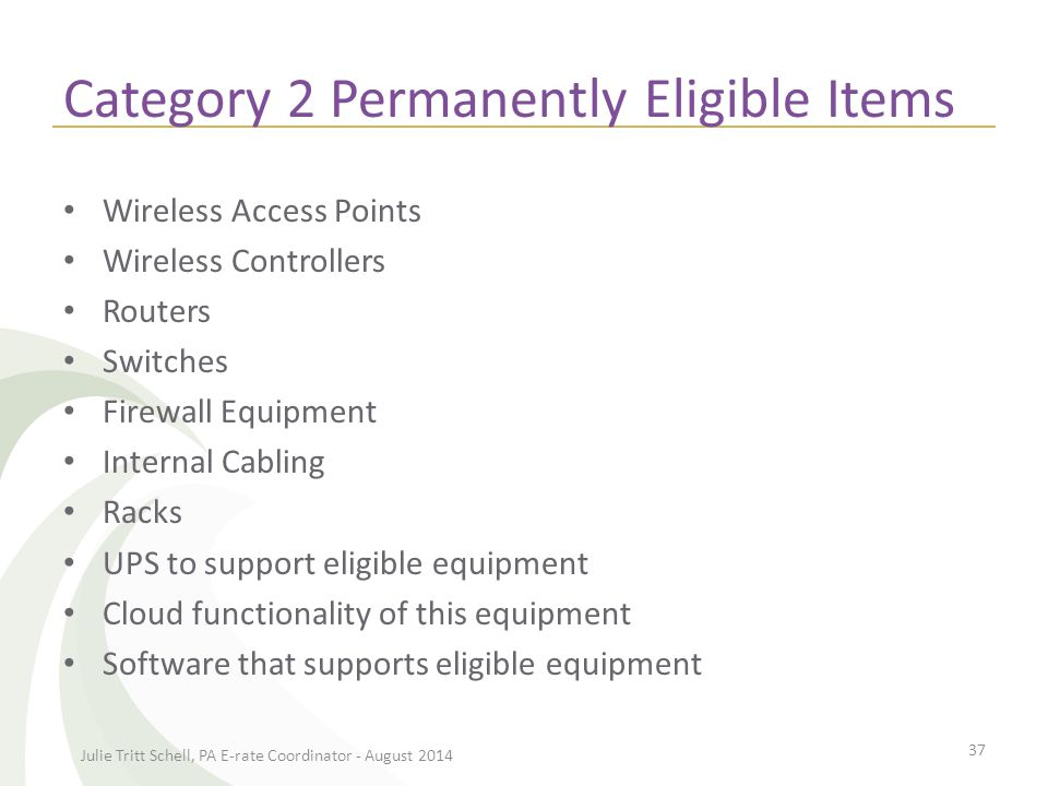 Category 2 Eligibility in FY 2015 and 2016 Caching Servers and Software – NEW.