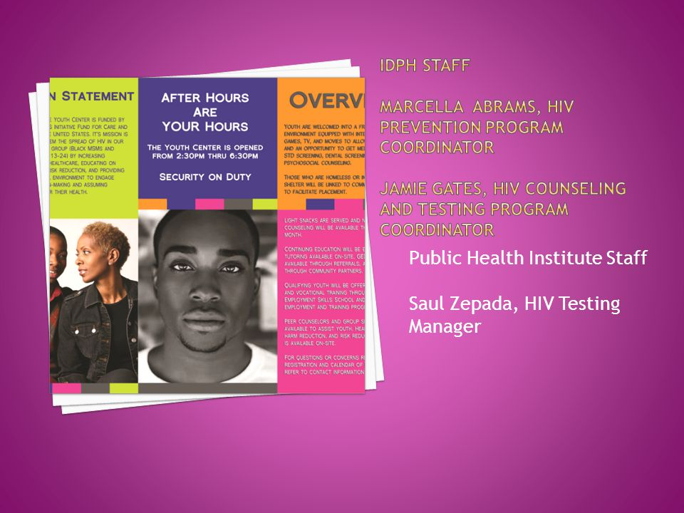 Public Health Institute Staff Saul Zepada, HIV Testing Manager