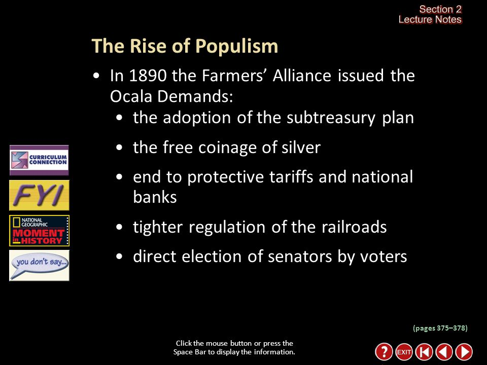 Section 2-15 Why did the exchanges set up by the Farmers' Alliance fail.