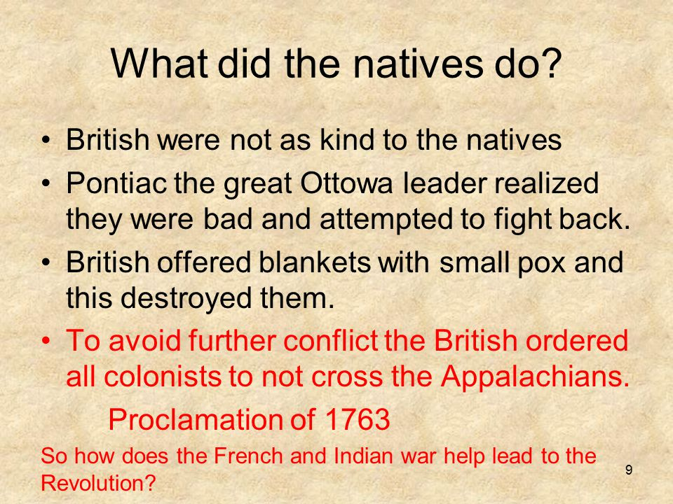 What did the natives do.