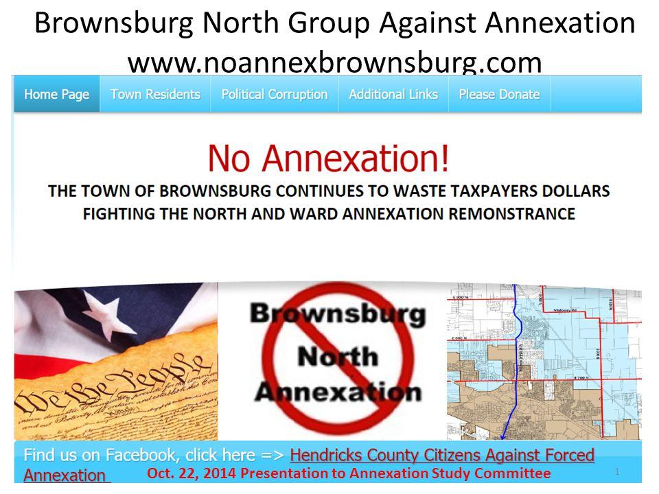 Brownsburg North Group Against Annexation www.noannexbrownsburg.com 1 Oct.