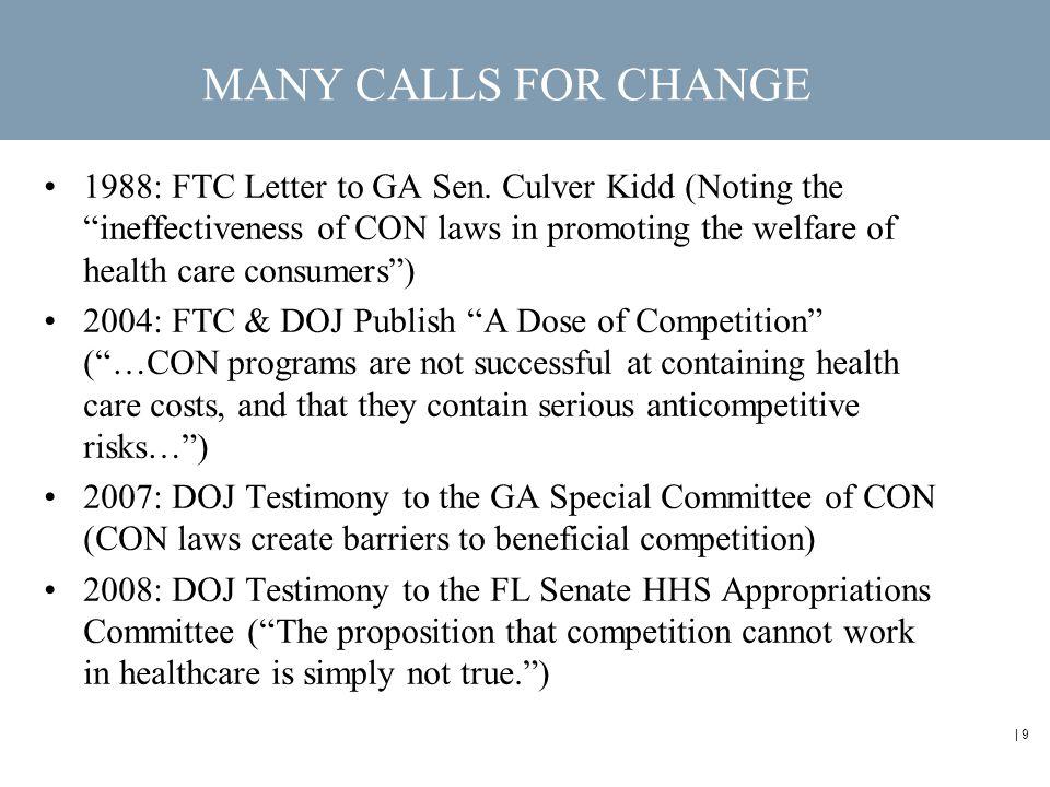 | 9 1988: FTC Letter to GA Sen.