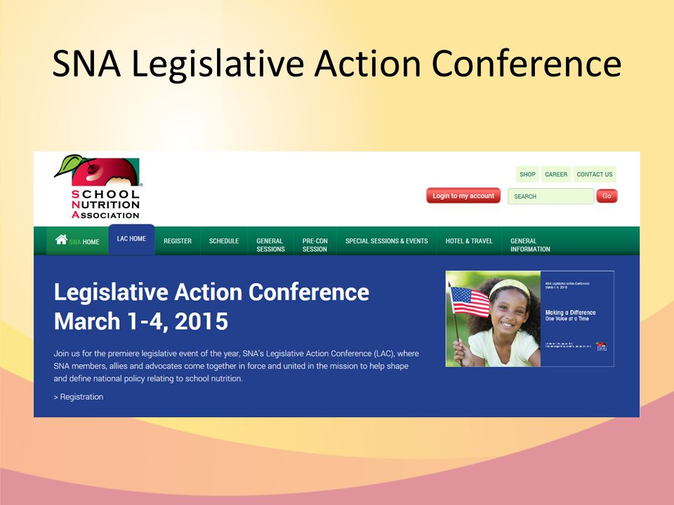 SNA Legislative Action Conference