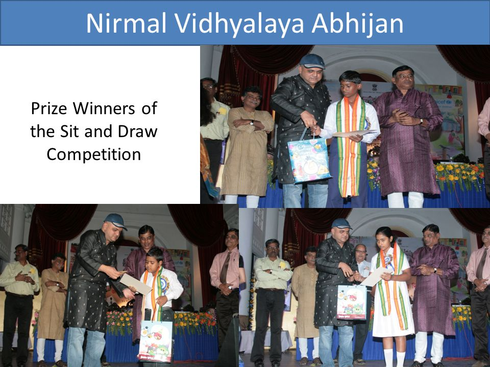 Prize Winners of the Sit and Draw Competition
