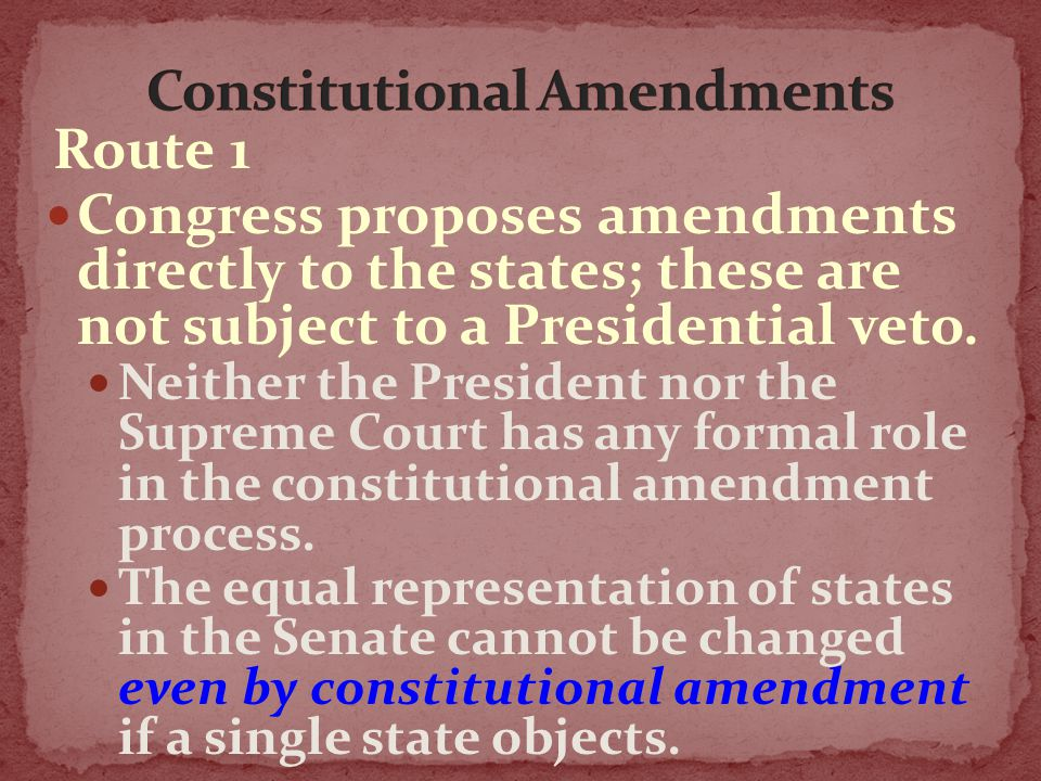 Hundreds of additional amendments have been proposed by individual members of Congress or state legislatures, several dozen of which have had significant support.