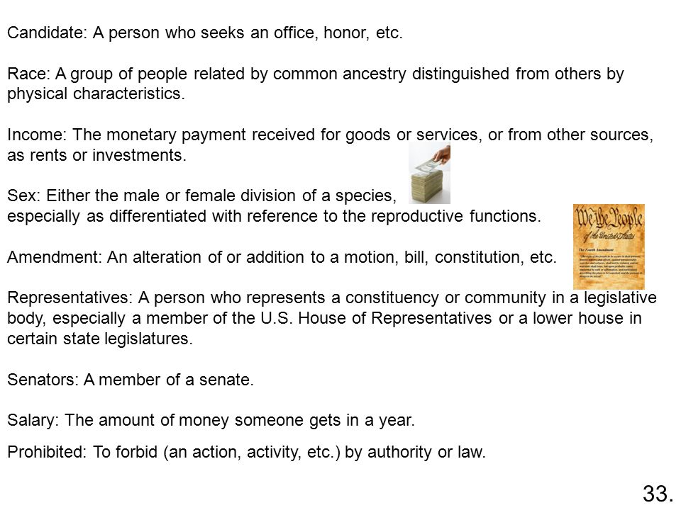 Candidate: A person who seeks an office, honor, etc.