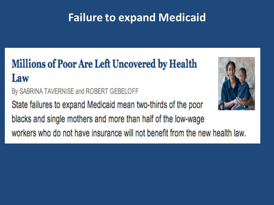Failure to expand Medicaid