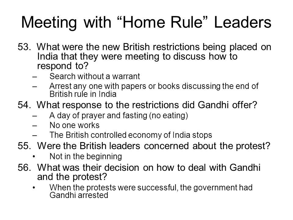 Meeting with Home Rule Leaders 53.
