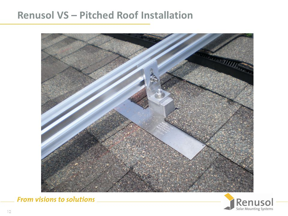 Renusol VS – Pitched Roof Installation 12