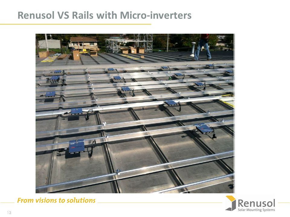 Renusol VS Rails with Micro-inverters 13