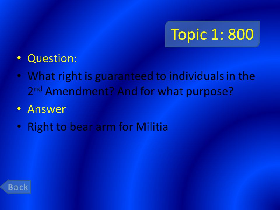 Topic 3: 1000 Question: The power to set up jurisdiction of federal courts belongs to ______________ and is a check on ______________.