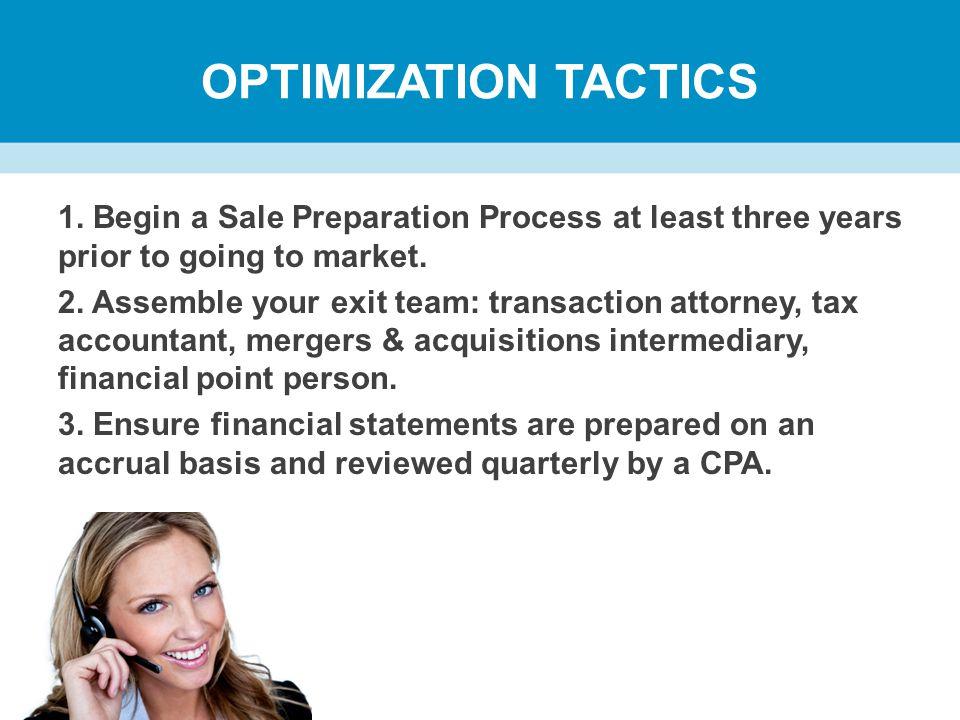 OPTIMIZATION TACTICS 1.