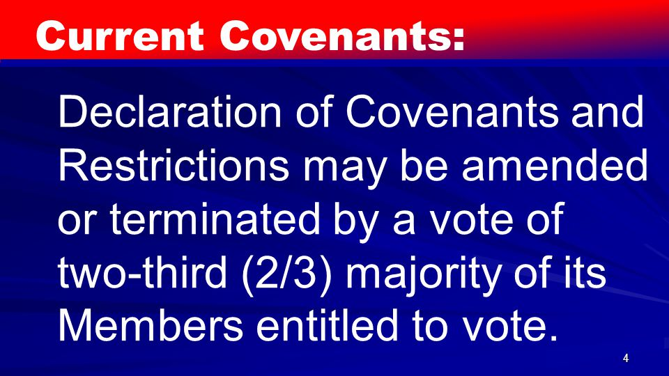 15 Proposed New Covenants: XI.