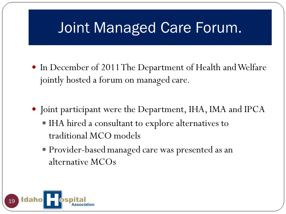 Joint Managed Care Forum.