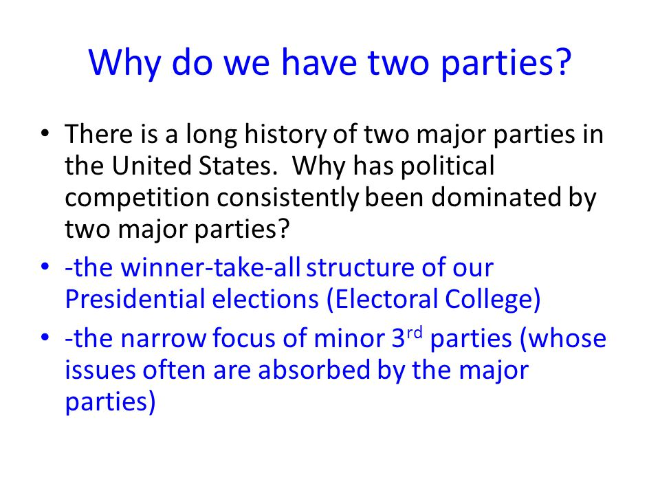Role of 3 rd Parties To provide another choice To force the major parties to address certain issues Free-Soil Party 1848-1852 Goal: Stop the extension of slavery Why did the party disappear.