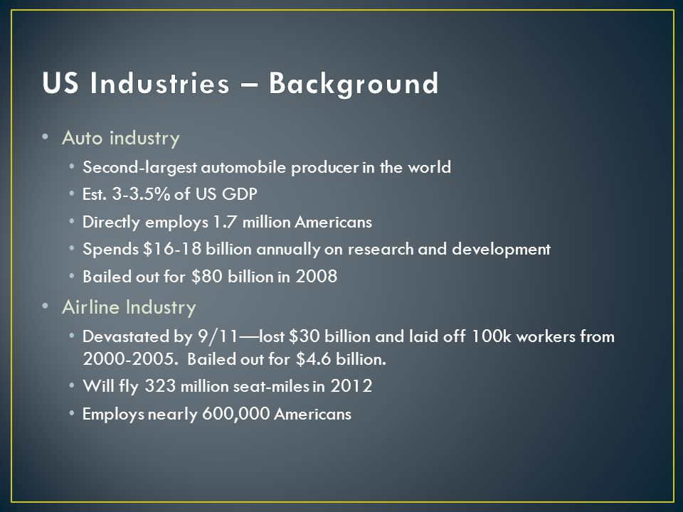 Auto industry Second-largest automobile producer in the world Est.