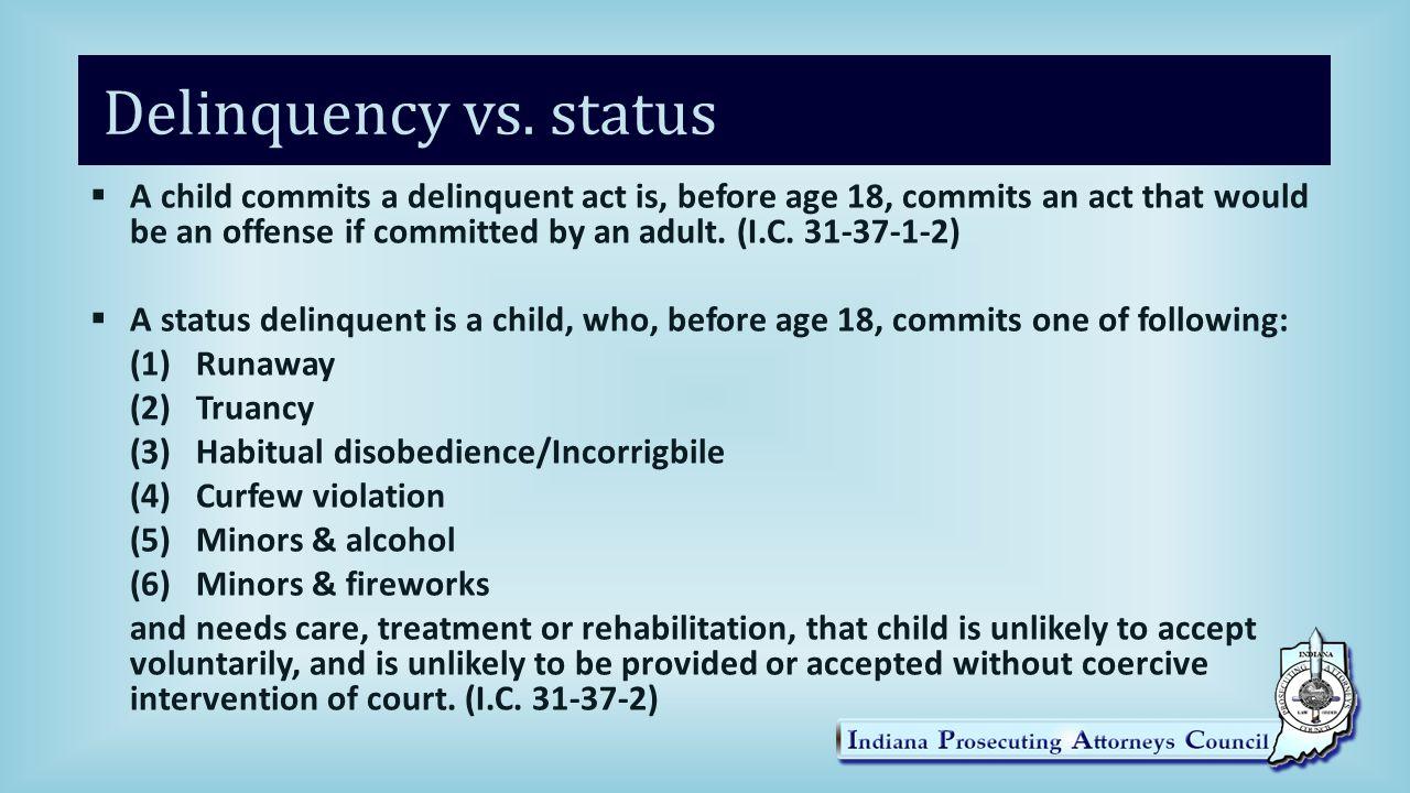 Delinquency vs.