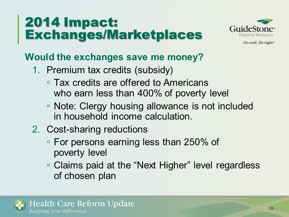 2014 Impact: Exchanges/Marketplaces Would the exchanges save me money.