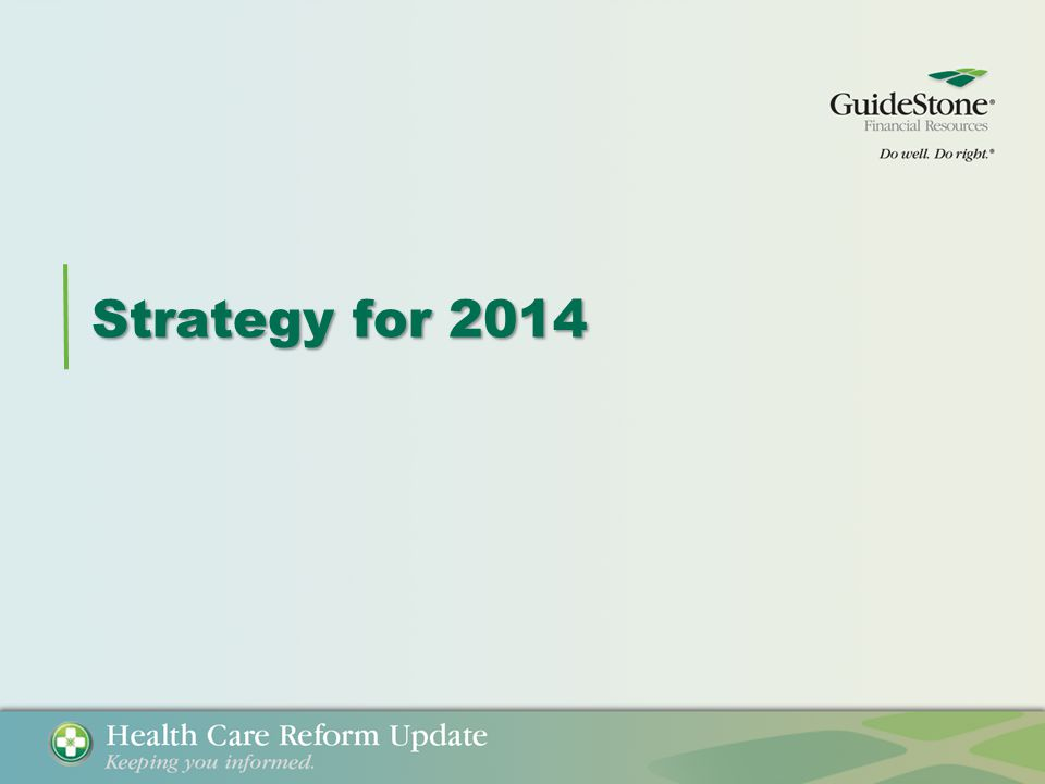Strategy for 2014