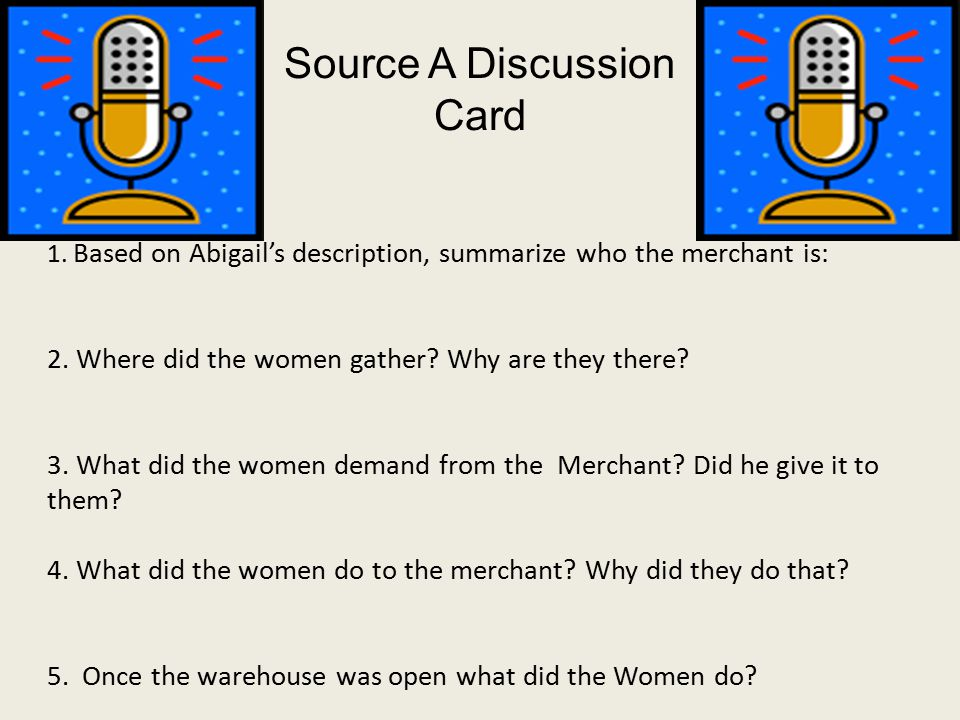 1. Based on Abigail's description, summarize who the merchant is: 2.