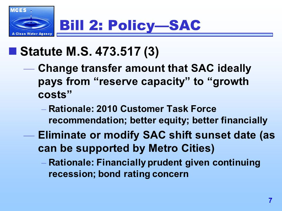 7 Bill 2: Policy—SAC Statute M.S.