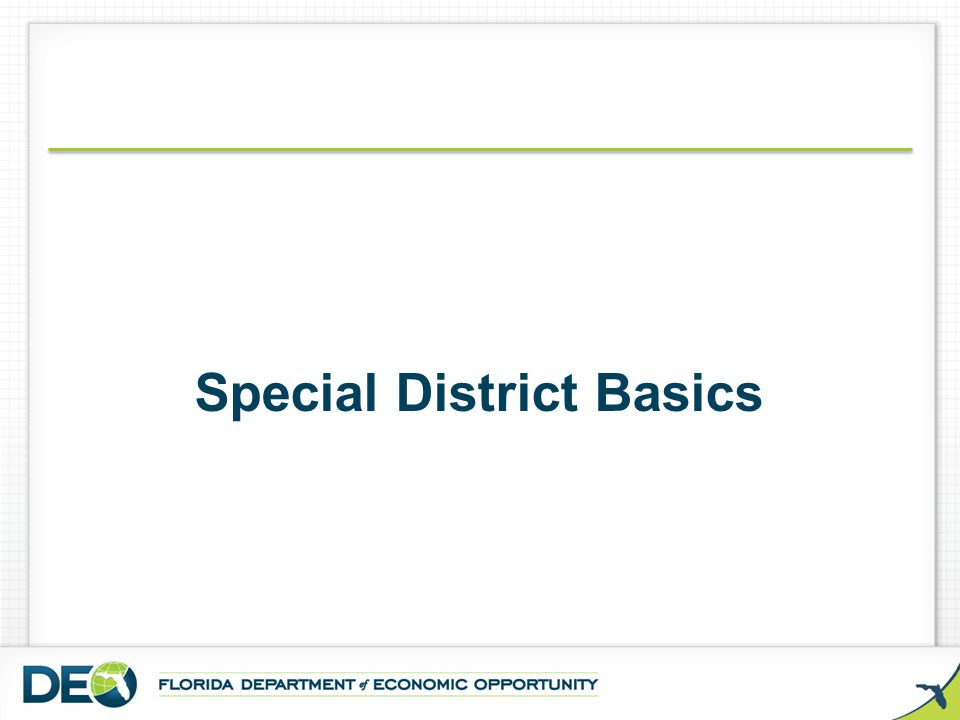  Special districts maintain the financial integrity of the special district by limiting its liability to civil lawsuits and providing state technical assistance and oversight in the event of a financial emergency.