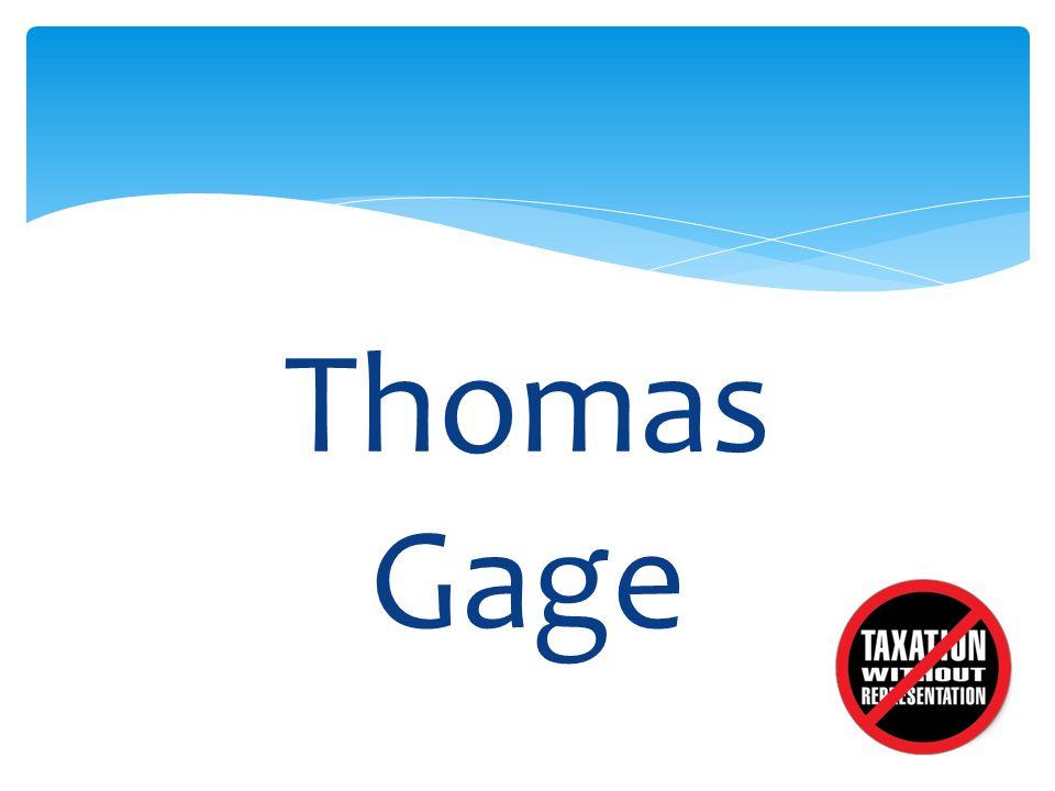 Thomas Gage