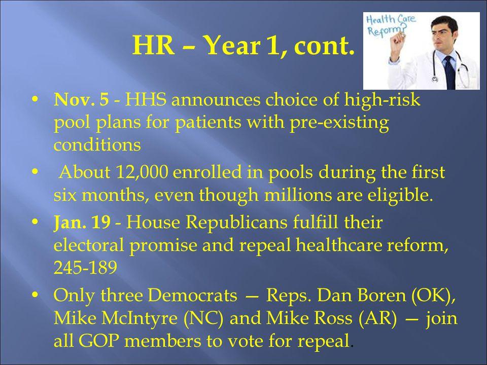 HR – Year 1, cont. Nov.