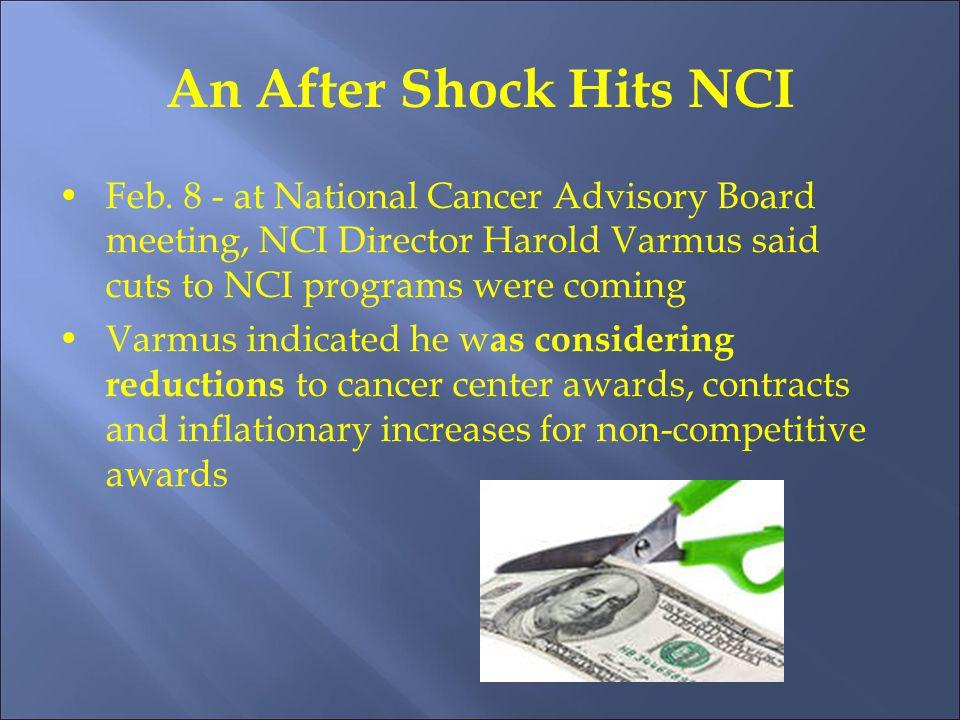 An After Shock Hits NCI Feb.