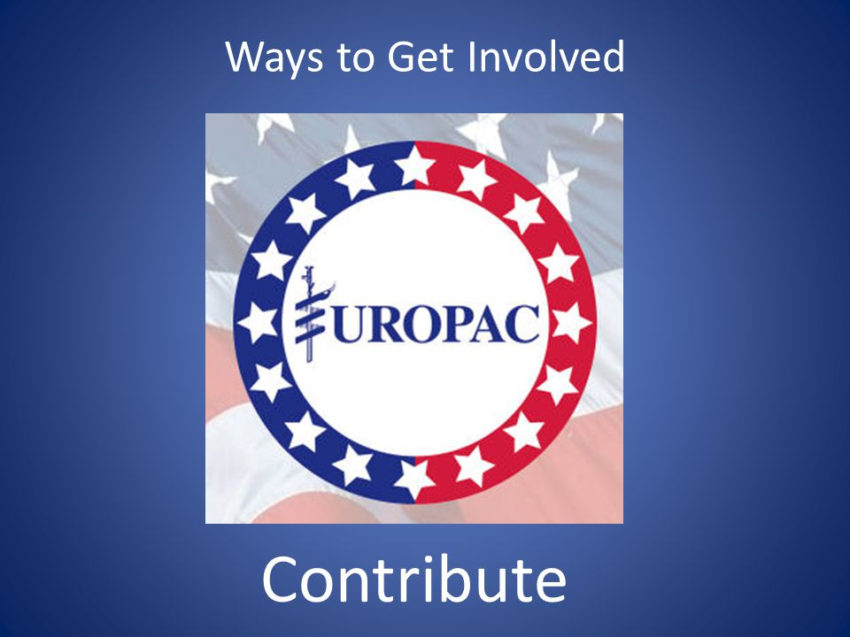 Ways to Get Involved Contribute