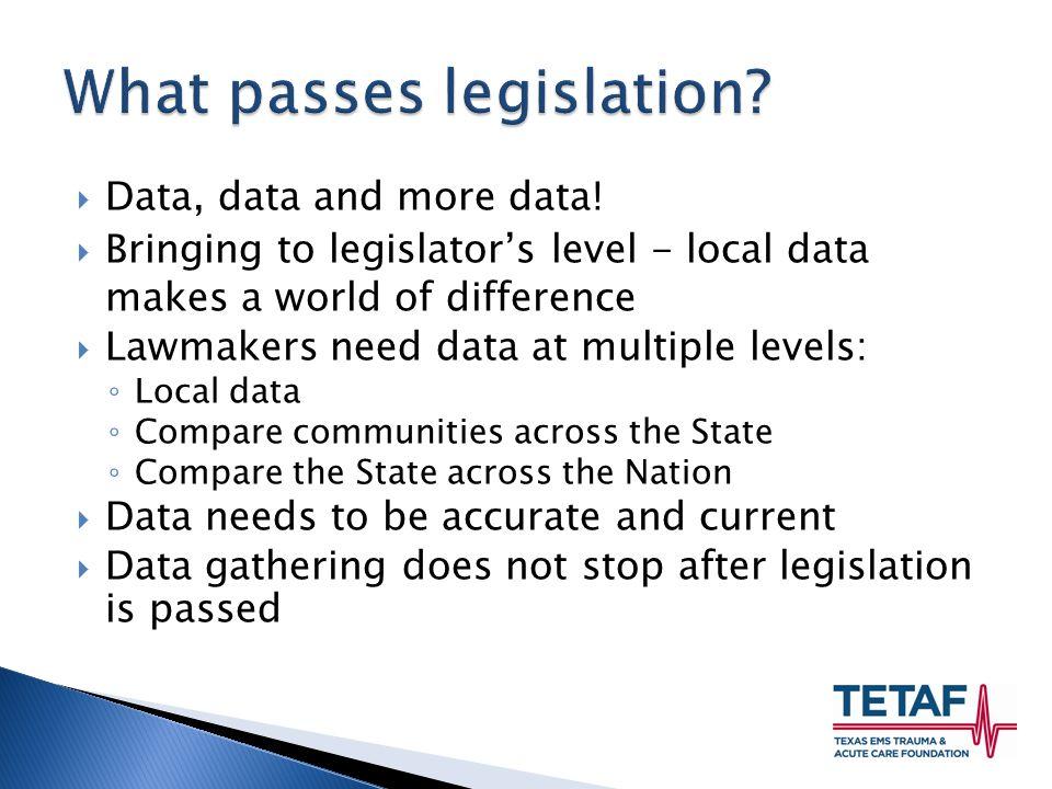 Data, data and more data.