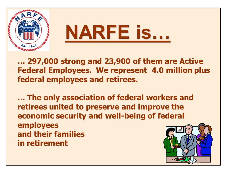… 297,000 strong and 23,900 of them are Active Federal Employees.