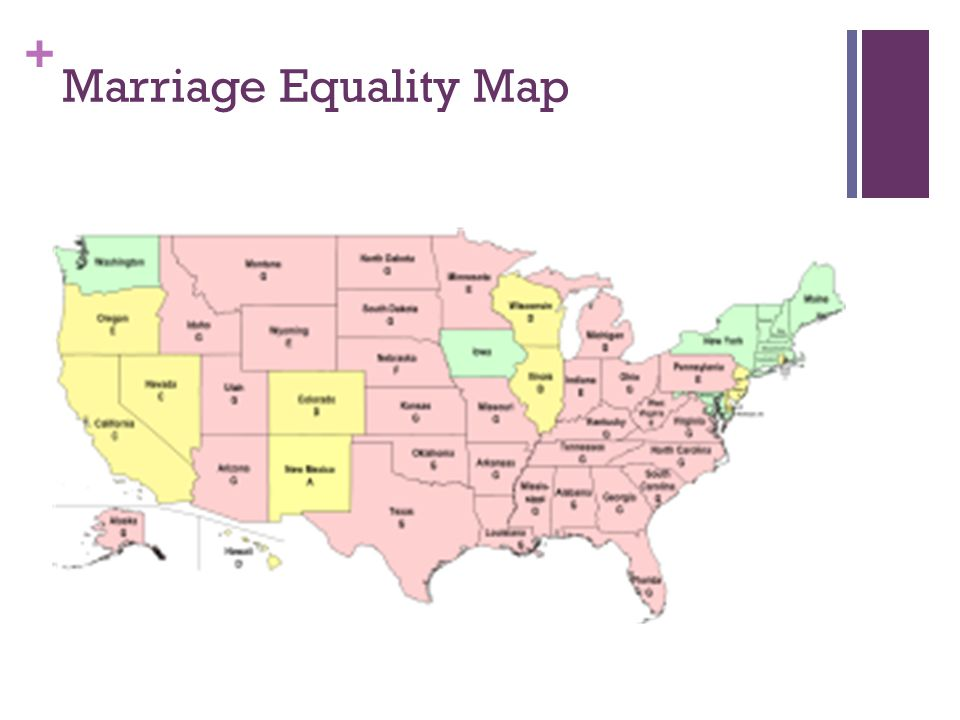 + Marriage Equality Map