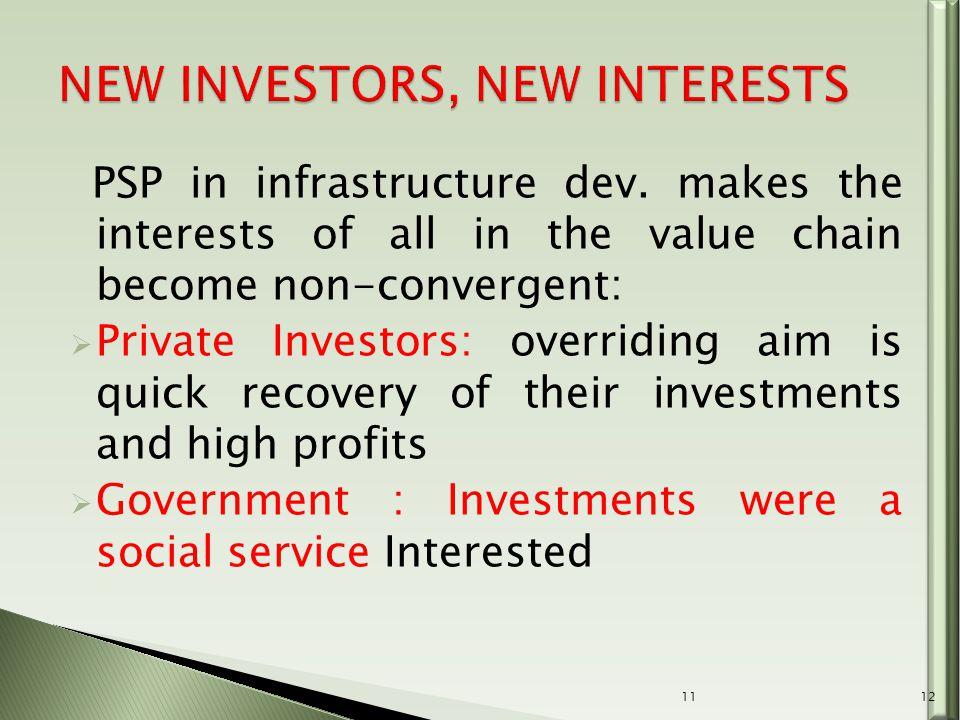 PSP in infrastructure dev.