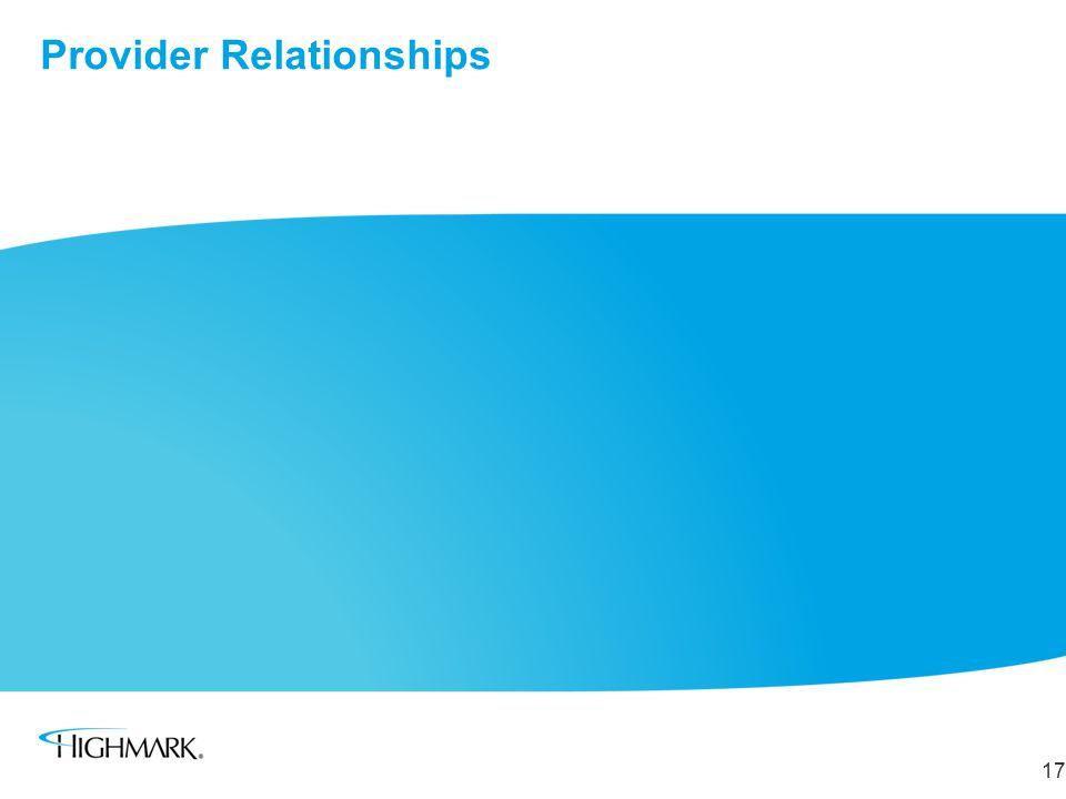 Provider Relationships 17