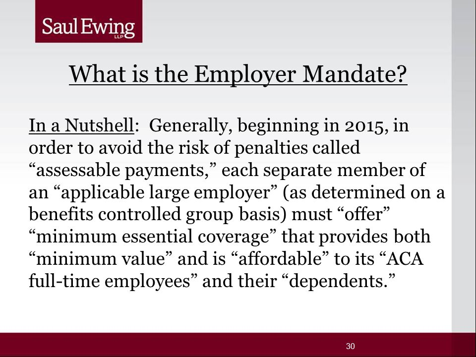 What is the Employer Mandate.