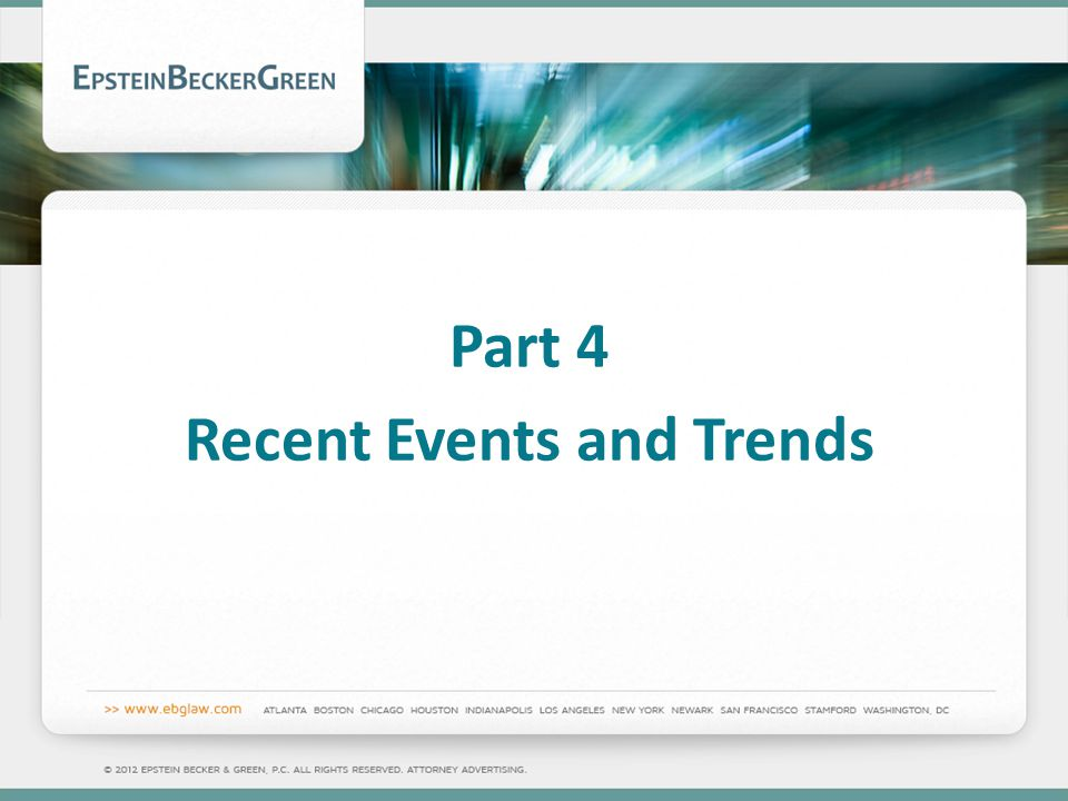 Part 4 Recent Events and Trends