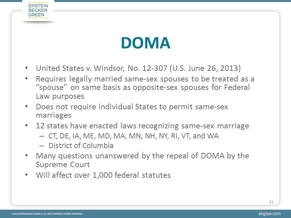 United States v. Windsor, No. 12-307 (U.S.